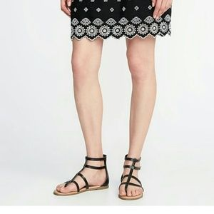Strapped zip back gladiator sandals